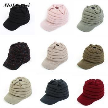 Mujeres de invierno de punto sombrero con visera damas chicas adolescentes  elegante caliente Caddice punto tibetana viseras sombreros gorras 4a5d2f1c73a