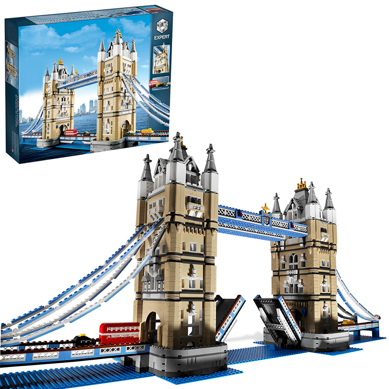 Lepin 17004 Tower Bridge building bricks blocks Toys for children boys Game Model Gift Compatible with Bela Decool 10214 hot sembo block compatible lepin architecture city building blocks led light bricks apple flagship store toys for children gift