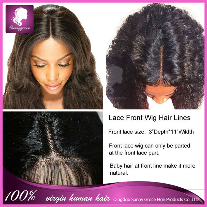 cheap peruvian wavy virgin human hair wigs midlle center parting full lace  wig with baby hair 180% density free shipping-in Human Hair Lace Wigs from  Hair ... 2f62122c335b