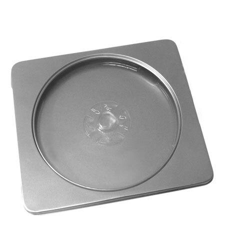 clear window metal bland diy storage case tin box muji single cdvcddvd