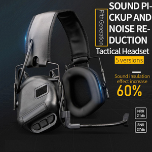 Image 2 - Tactical Headset Hunting Airsoft Headphone with Noise Reduction Canceling Camouflage Military Combat Shooting Headset