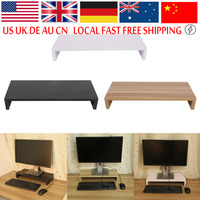 Wooden Monitor Stand PC LED LCD Computer Monitor Riser Desktop Organizer Display Bracket