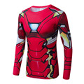Iron Man 3D Printed T-shirts Captain America Civil War T Long Sleeve Compression Shirt Cosplay Costume  Clothing Tops Male
