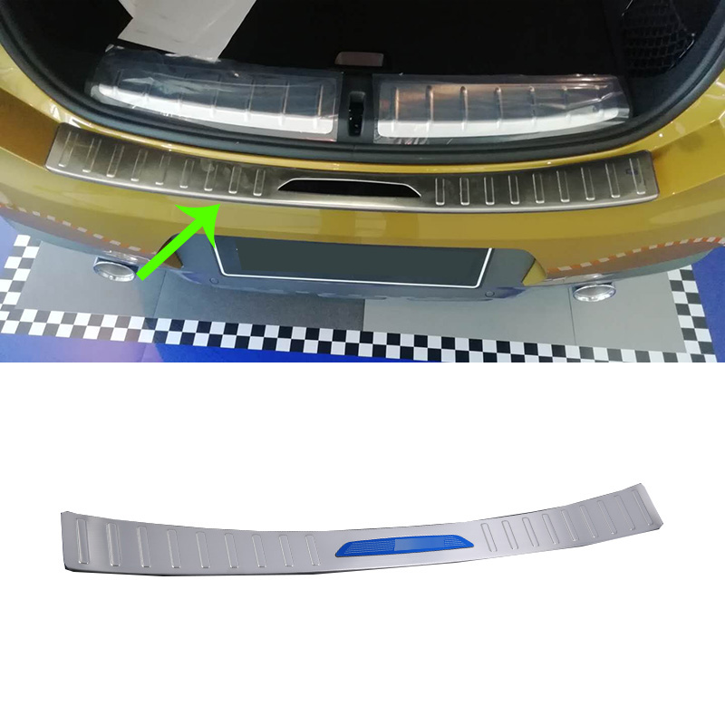 Car Accessories Interior Stainless Steel Rear Outer Bumper Protector Scuff Plate Guard Cover Trim For BMW X2 2018 Car Styling