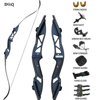 Archery Recurve Bow Arrows Hunting Set 30 50lbs for Shooting Target Practice Sport Aluminum Alloy Right Hand Takedown Long Bow