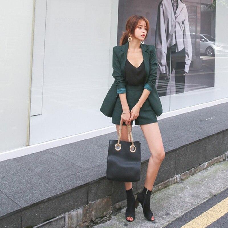 Aliexpress.com  Comprar BGTEEVER Vintage verde Slim Short Suits ... 2a97e2444b3