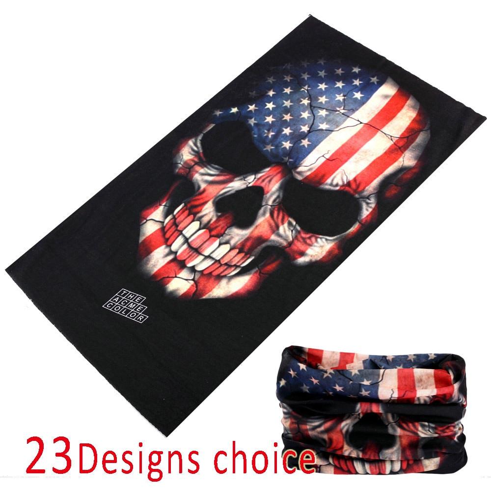 2017 Skull Bandana Multifunctional Seamless Bandana 25*48cm Headbands Tubular Motorcycle Scarf Bufanda Tubular Negro