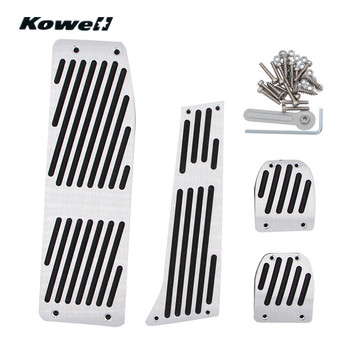 KOWELL Foot Rest Fuel Brake Clutch Pedals Plate Cover Car Pedal Pads For BMW 3 Series 3Series X1 E30 E36 E46 E87 E90 E91 E92 E93 image