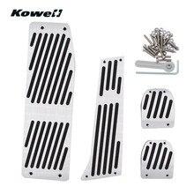 KOWELL Foot Rest Fuel Brake Clutch Pedals Plate Cover Car Pedal Pads For BMW 3 Series 3Series X1 E30 E36 E46 E87 E90 E91 E92 E93