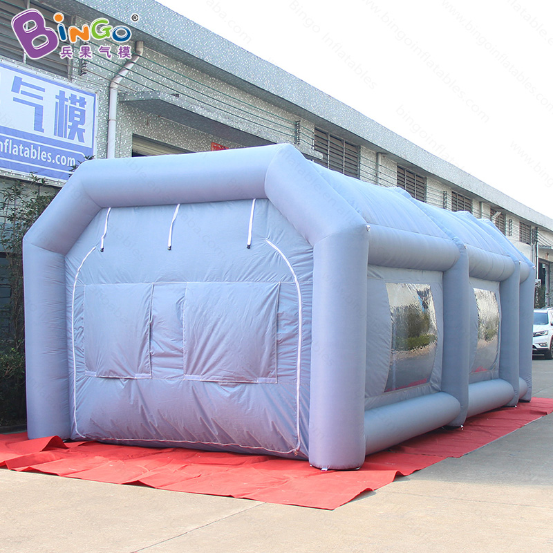 2018 Hot sale 8X4X3 M inflatable spray paint booth with factory price portable work station car painting room for sale hot sale m