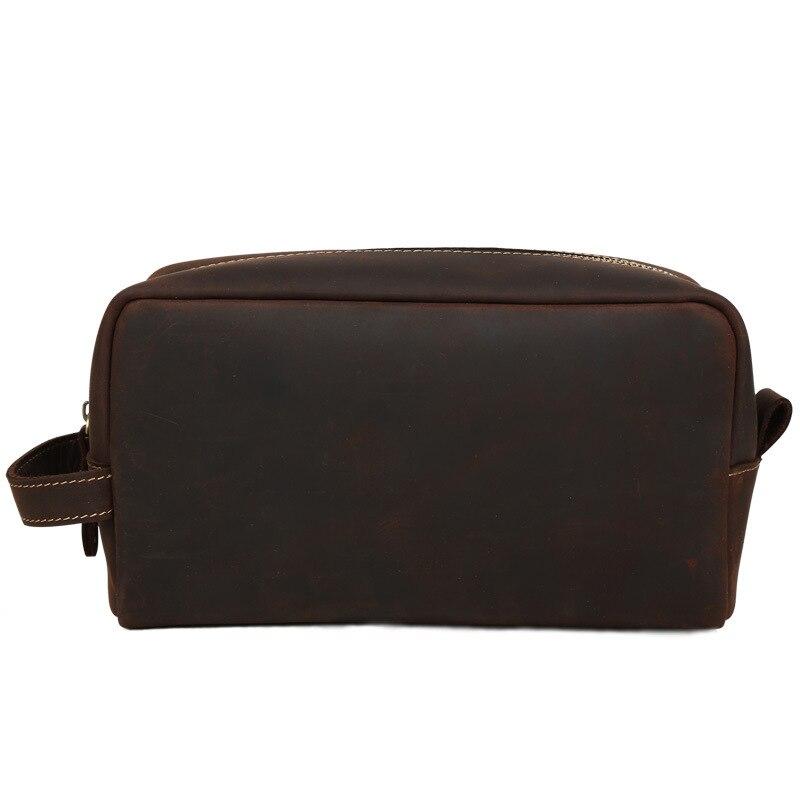 Sac cosmétique en cuir véritable femmes sac à main trousse à maquillage sac à main organisateur dames téléphone sac voyage poche beauté grande poche femme
