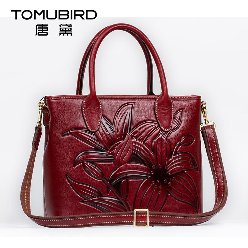 2017 New women genuine leather bag famous brands quality cowhide embossed women leather handbags shoulder bag