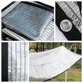 Затемняющая сетка из алюминиевой фольги  садовая отраженная Солнцезащитная сетка с защитой от УФ-лучей  уличная Автомобильная Солнцезащит...
