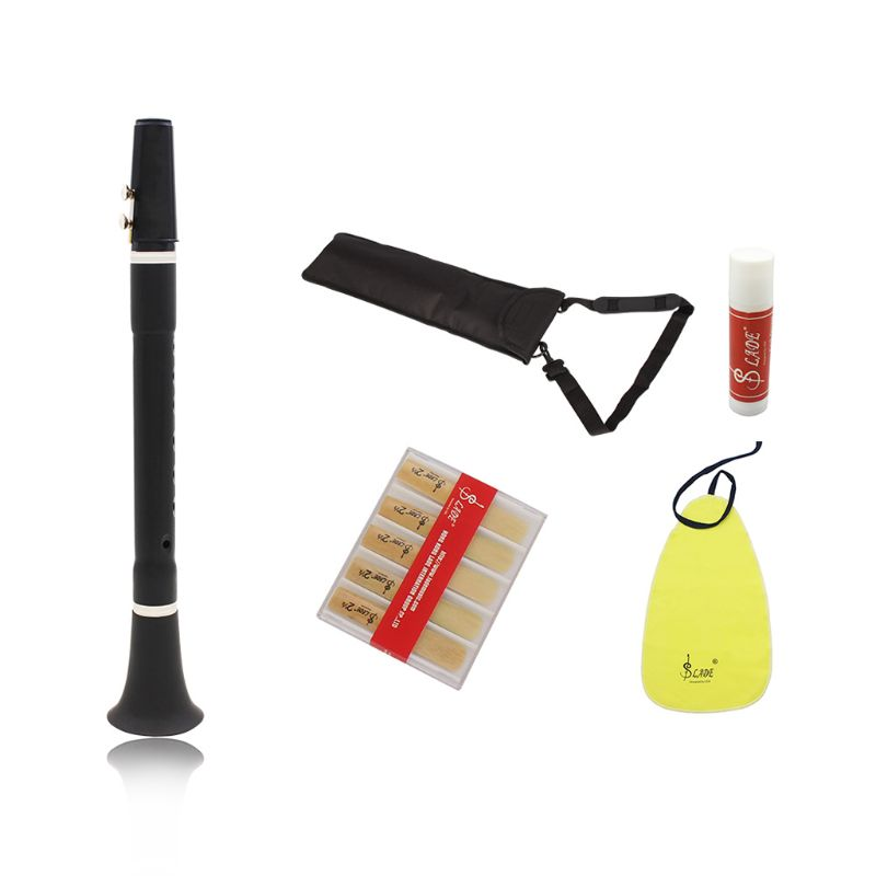 Mini Bb B Flat Clarinet Clarionet Woodwind Instrument with Cleaning Cloth Grease Reeds Carrying BagMini Bb B Flat Clarinet Clarionet Woodwind Instrument with Cleaning Cloth Grease Reeds Carrying Bag