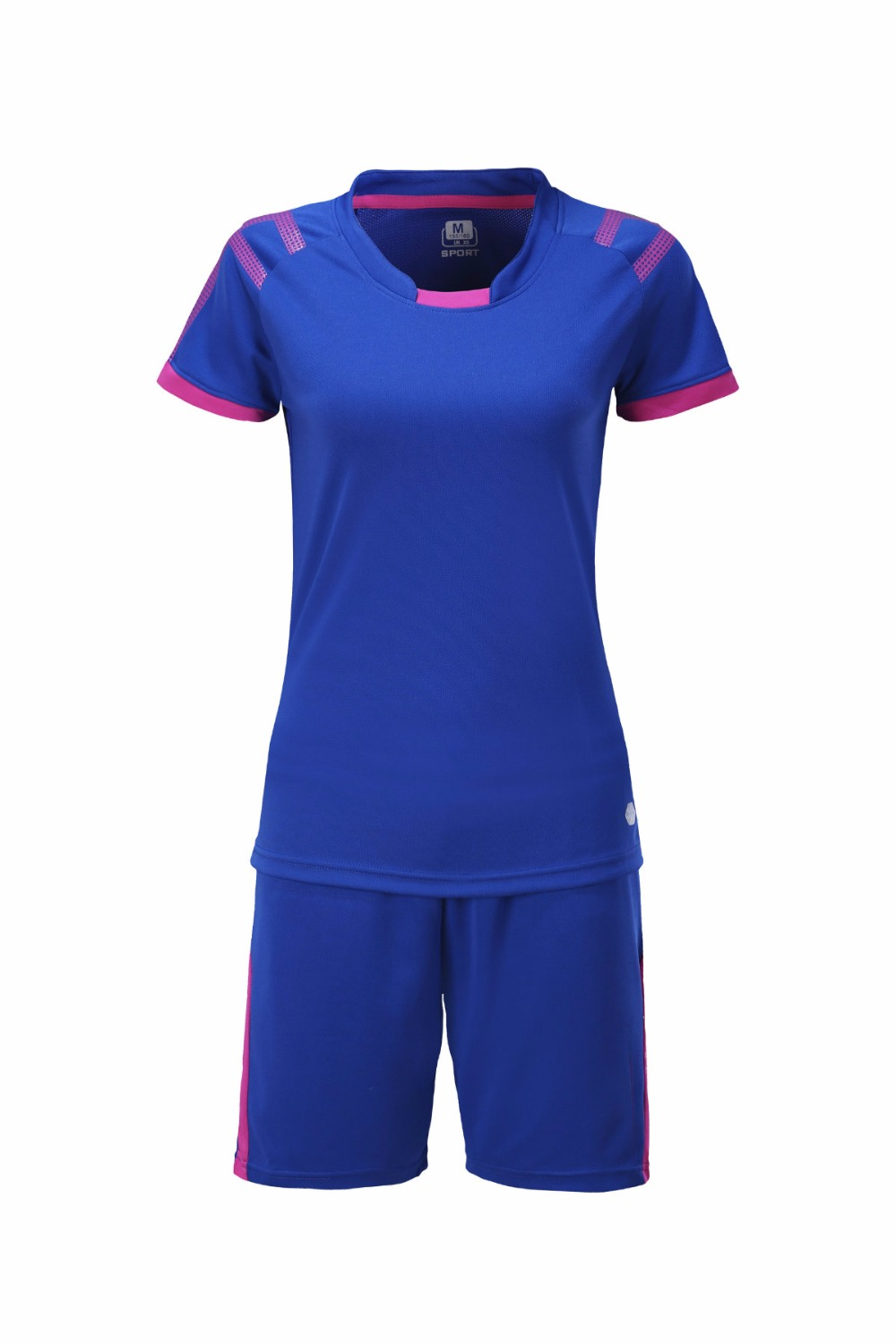 Womens short sleeve sports training kit, football suit, DIY team custom logo printing, breathable womens football jerseys, wom