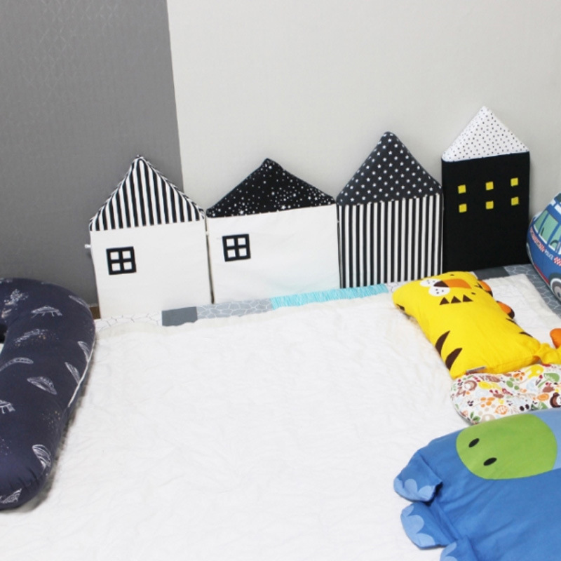 House Wall INS Doll Plush Sofa Bed Protection Enclosure Crib Guardrail Safe Christmas Room Stuffed Toys Birthday Gift Pillow