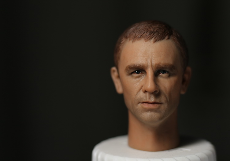 1/6 scale figure doll head shape for 12 action figure doll accessories Cowboys & Aliens 007 Bond Daniel Craig male Head carved 1 6 scale figure doll head shape for 12 action figure doll accessories iron man 2 whiplash mickey rourke male head carved