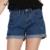 Ailoria Vaqueros Cortos de Verano Más Tamaño 2016 Mujeres de Cintura Alta Pantalones Cortos de mezclilla Dobladillo Rollo Suelta Femeninos Super Cool Corto Pantalon Femme