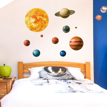 цена на Planet legend pattern living room bedroom wall sticker wall decoration removable easy to paste stickers