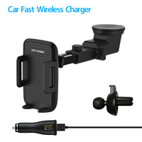 Pre Sale Car Holder Qi Wireless Fast Charger Retractable With Suction Cup Dashboard Auto Air Vent Phone Holder for Iphone X