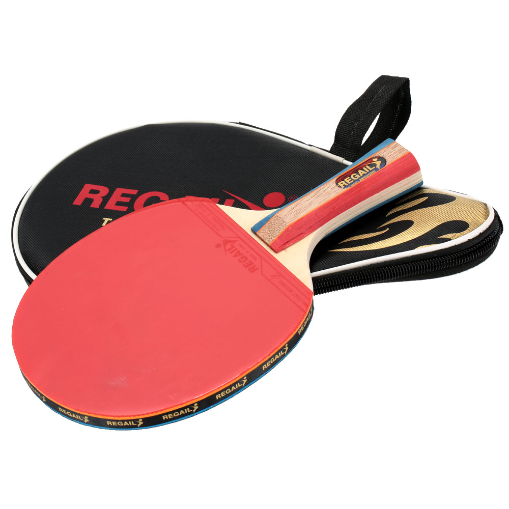 1pc Long Handle Shake Hand Professional Table Tennis Rackets Ping Pong Pingpong Racket Paddle Bat With Case Bag