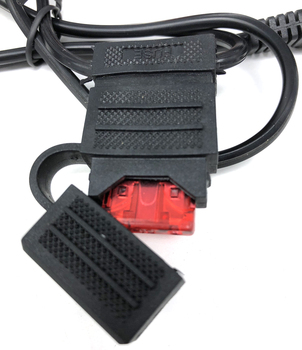 סוללה אליגטור תנין קליפ כדי Sae מחבר הארכת כבל 18AWG 50CM 2 פין מהיר ניתוק כדי תנין מחברים נתיך