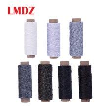 LMDZ 150D 50 м ручная работа плоская Вощеная линия для шитья вощеная нить для кожаного ремесла DIY 6 цветов швейная нить