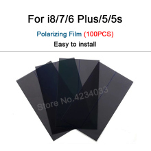 100PCS   LCD Screen Polarizer film for iPhone 5 5s 6 6s 7 8 plus Polarizing Film See By Ploarizer Sunglasses