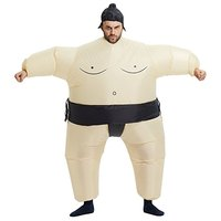 160 160cm Inflatable Adult Sumo Wrestler Wrestling Suits Halloween Costume Party Toys One Size