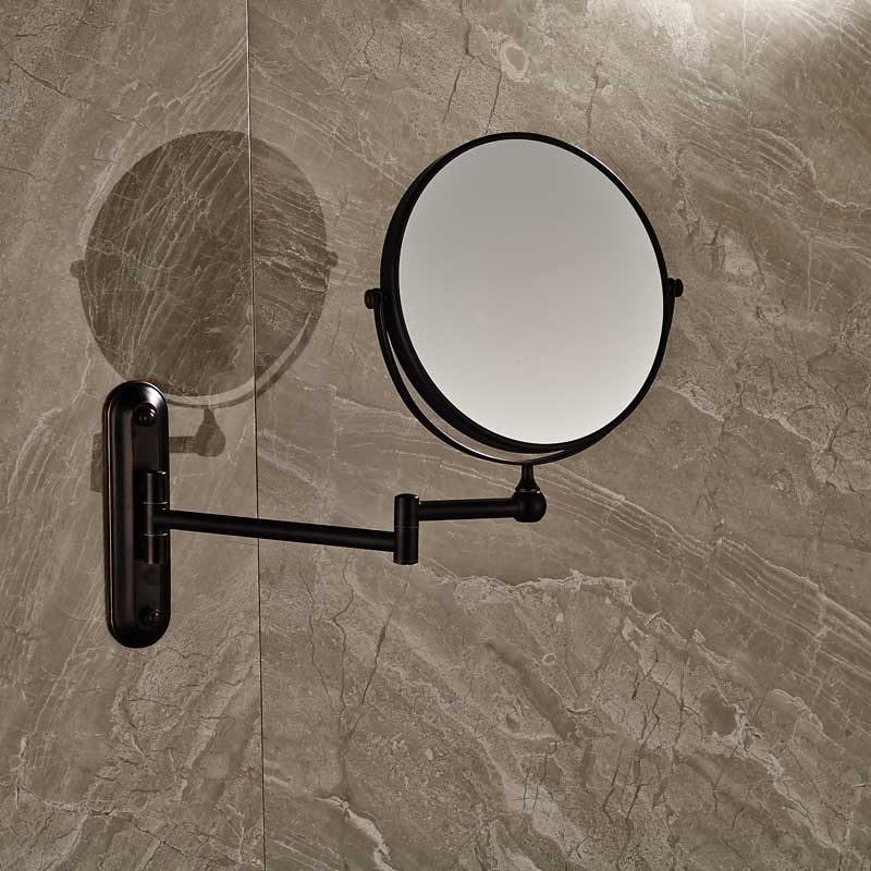 Bathroom Magnifying Mirror Extending Wall Mounted Double Side Round Folding Make Up Shaving MirrorChina