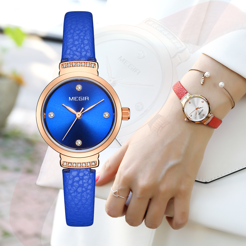 MEGIR Watch Luxury Quartz Woman Leather Wristwatch Watches Women Fashion Watch girl Clock 2019 Relogio Feminino Free gift boxMEGIR Watch Luxury Quartz Woman Leather Wristwatch Watches Women Fashion Watch girl Clock 2019 Relogio Feminino Free gift box