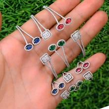 SisCathy Luxury Cubic Zirconia Open Bangle Bracelet/Ring Jewelry Sets For Women Nigerian Dubai Wedding Jewelry Sets 2019 цена в Москве и Питере