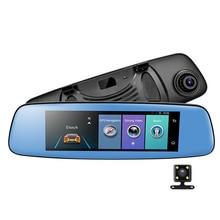 """4 г Видеорегистраторы для автомобилей 7.84 """"Сенсорный экран ADAS удаленного Мониторы зеркало заднего вида с DVR и камера Android 5.1 с двумя объективами 1080 P WI-FI dashcam"""
