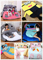 1pcs Anime My Neighbor Totoro Despicable me Stitch Horse Rabbit Bear character frame soft sofa bed tatami mattress toy via EMS