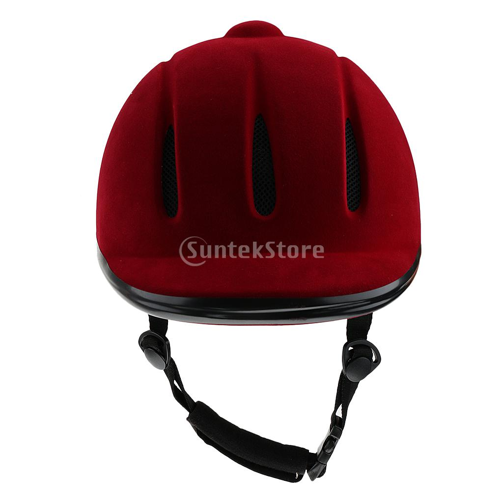 Vented Western Riding Helmet Safety Low Profile Equestrian Headwear Red S M