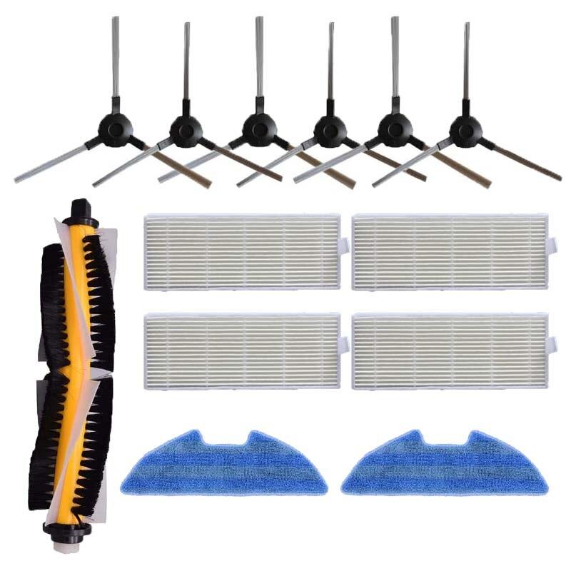 Dust Hepa Filter Side Brush Mop Pad Main Brush For Proscenic VSLAM-811GB VSLAM-911SE Robotic Vacuum Cleaner Spare Parts