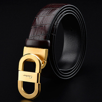 2018 New Design Luxury Brand Belt High Quality For Men Genuine Leather Trousers First Layer Ciartuar