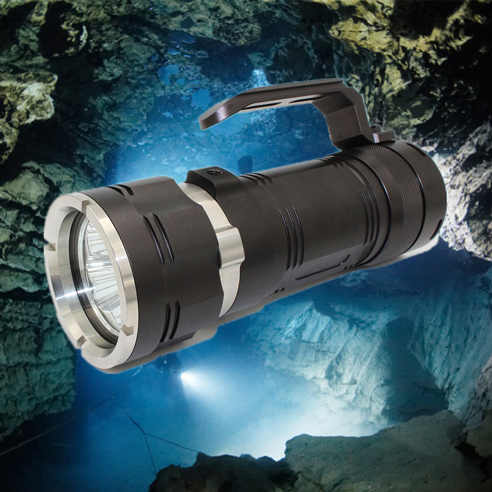 Waterproof LED Diving Flashlight 3700LM 4 x CREE XM-L2 Diving Torch Led Flash Light Lantern Underwater Torch Light купить