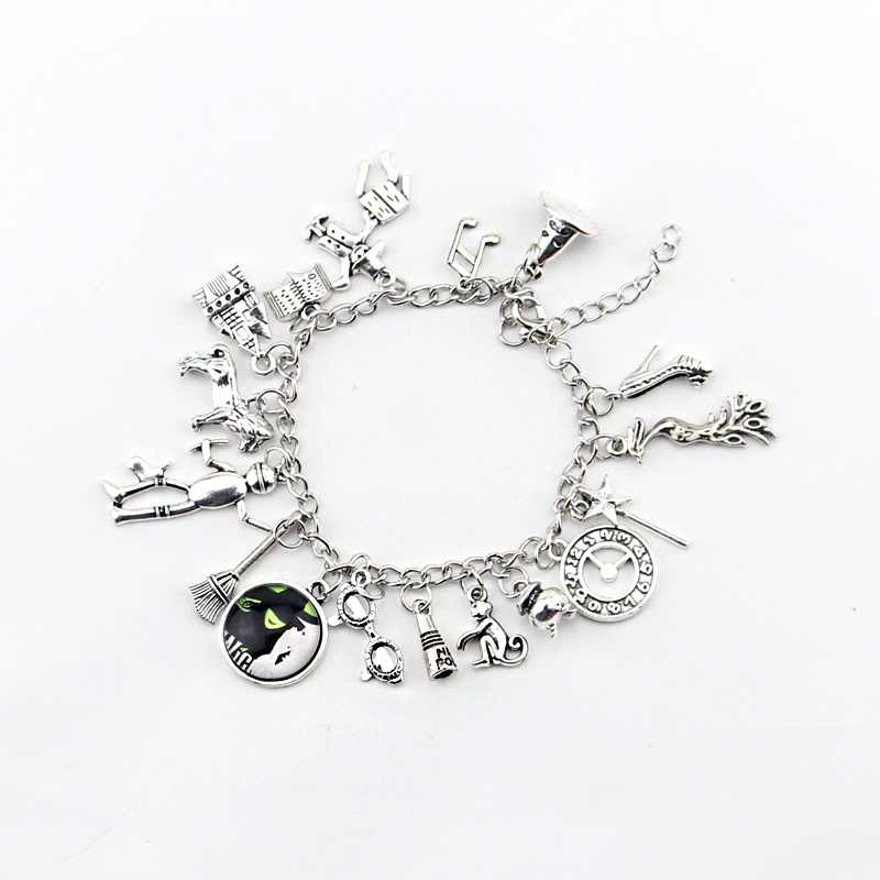 721da8f01a5ee Fashion Wicked Charm Bracelet Wicked the Musical Bangle Jewelry Defy  Gravity Elphaba Glinda Bracelets For Women Christmas Gifts