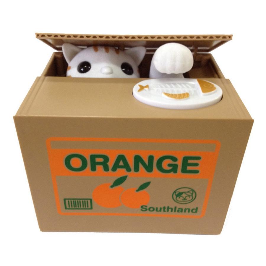 Adorable Cat Stealing Piggy Bank Cat Eat Creative Money Box Safe Box Safes Saving Money Coin
