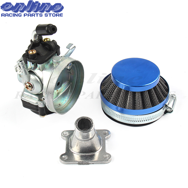 Carb Carburetor Air Filter Fits 50 60 66 80cc 2-Stroke Engine Motorized Bike