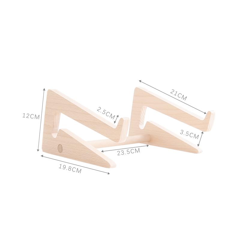 Wood Laptop Increase rack Laptop Stand Desktop Raise Base Bracket Multifunction Storage Shelf Protect the neck