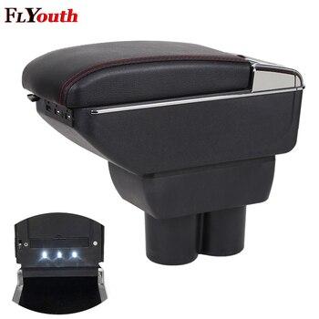 Car Armrest Box For Suzuki JIMNY 2015-2018 USB Charging LED Light Arm Rest Rotatable Centre Console Storage Box Car Styling