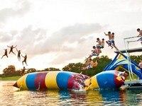 Gratis Vracht 8*3 m PVC Water Jump Kussen Catapult Opblaasbare Springen Blob Opblaasbare Water Blob Stuiterende Tas Water kussen