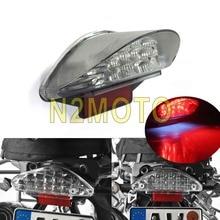Мотоциклов clear задние фонари номерной знак свет для BMW R1200GS F650 ST F800 приключение красный 16 светодиодный стоп