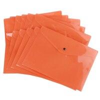 SOSW A Pack Of 12 Plastic Stud Document Wallets Folders Filing Paper Storage Orange A4