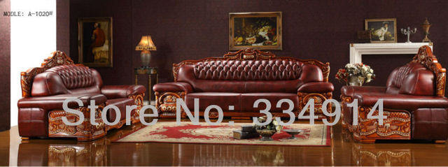 Thick Leather Sofa Leather Sofa Wooden Sofa Sofa In The Living Room Sofa  Chinese Style