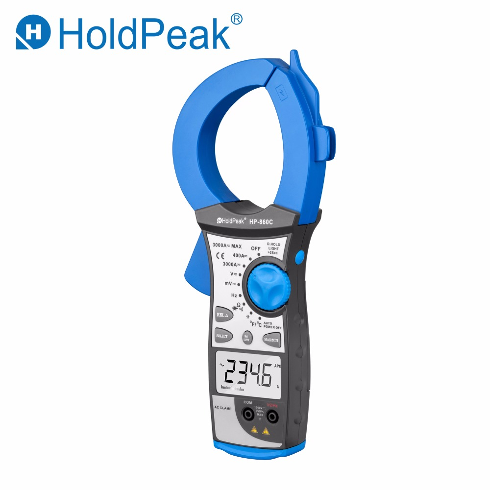 HoldPeak HP-860C 3000A Digital Clamp Meter Measurement High Quality Pincers Voltmeter Ammeter Frequency Tester Auto Range цена 2017