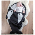 Fashion shark Sleeping Bag Winter Newborns Sleeping Bag Strollers Bed  Blanket Wrap Cute Bedding cotton soft Sleepsacks