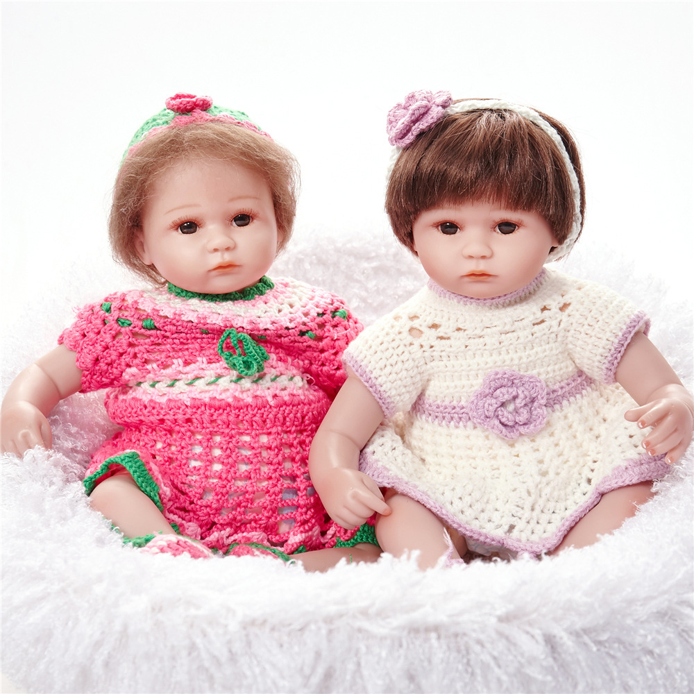 Twins Reborn Dolls Hair Rooted Realistic Reborn Baby Dolls ...